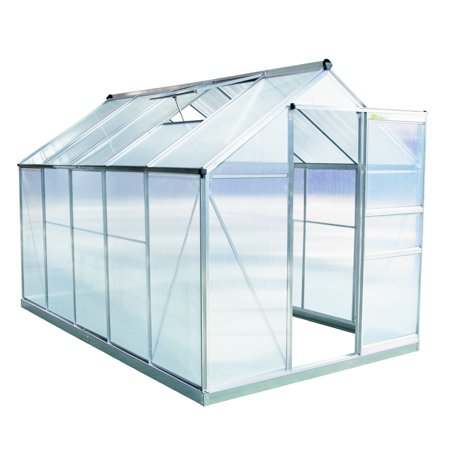 Palm Springs 6ft x 10ft Aluminum Walk in Greenhouse with polycarbonate  panels