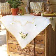 Herrschners  Sunshine & Daisies Table Topper Stamped Embroidery Kit
