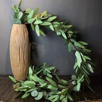 5 Feet Seeded Eucalyptus Garland,Eucalyptus Leaves Runner Table Garland Artificial Eucalyptus Greenery Garland |Wedding Garland for Table | Holiday Centerpiece | Garland Greenery for Wedding