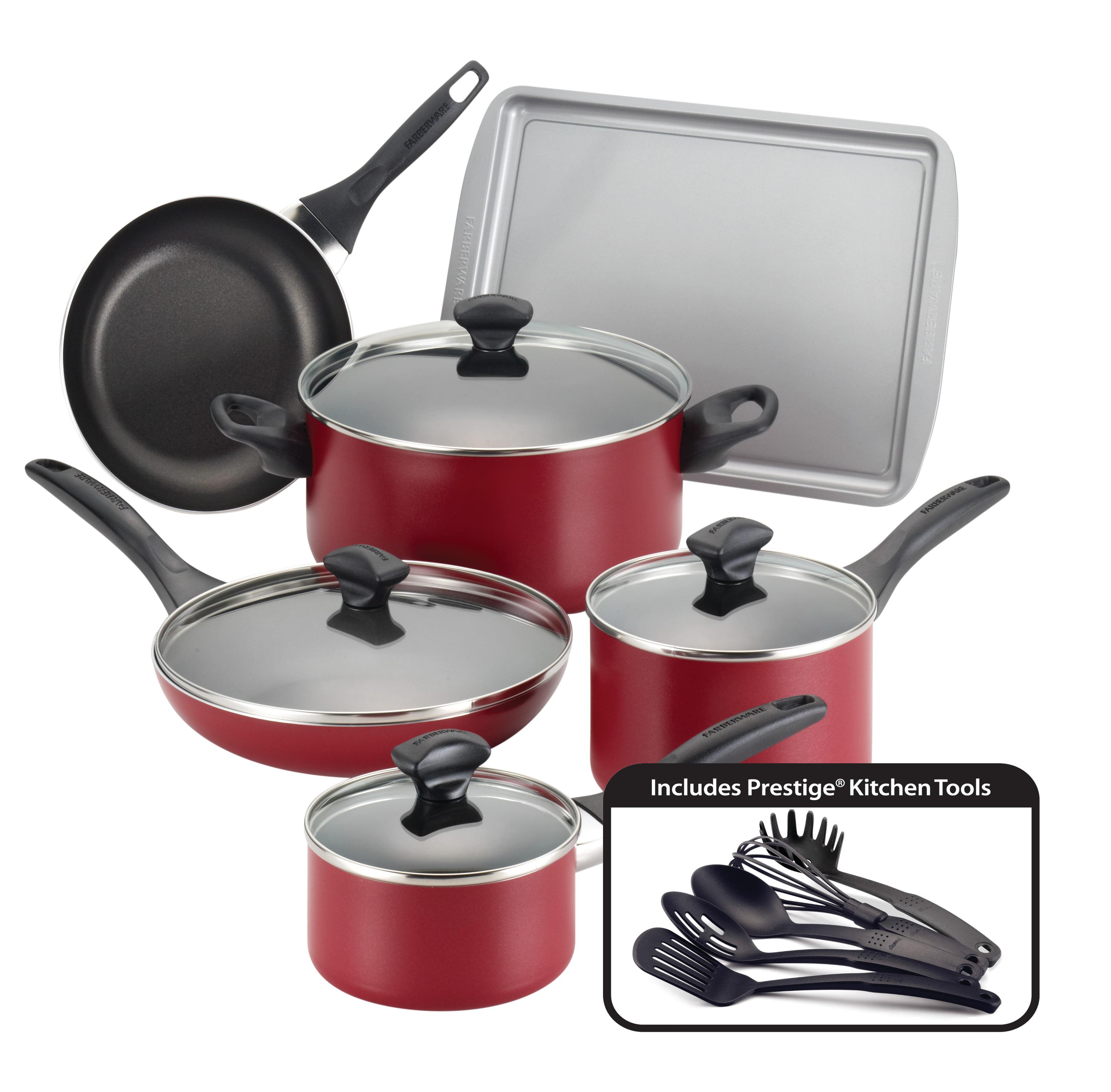Farberware Dishwasher Safe Nonstick 15-Piece Cookware Set ...