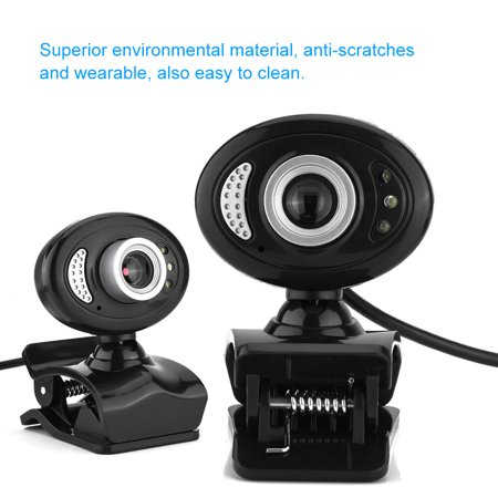 Ymiko A7280 USB2.0 Clip-on Web Camera HD 360° Rotating Stand Built-in Microphone for PC , PC Camera,Web Camera Web A/v Stand