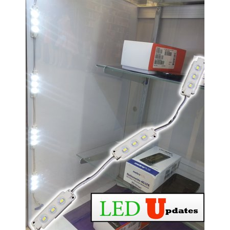 10ft LEDUPDATES Under Cabinet LED Light M5630 with UL Power Supply for Showcase Closet Under Cabinet Gun Safe Pantry
