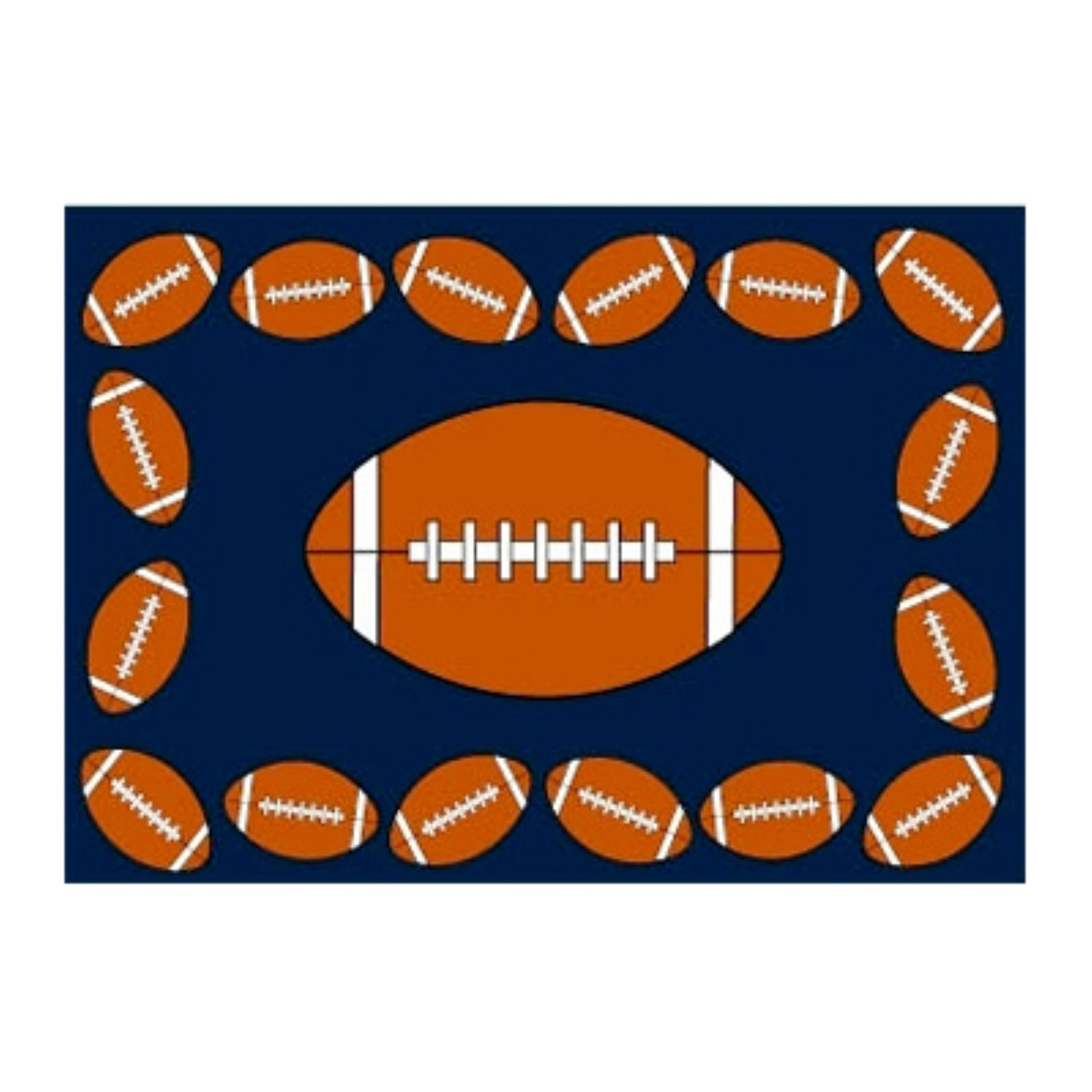 Fun Rugs FOOTBALL TIME Kids Rugs