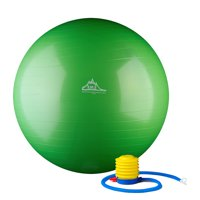 Black Mountain Products 2000lbs Static Strength Exercise Stability Ball with Pump, 65cm Green