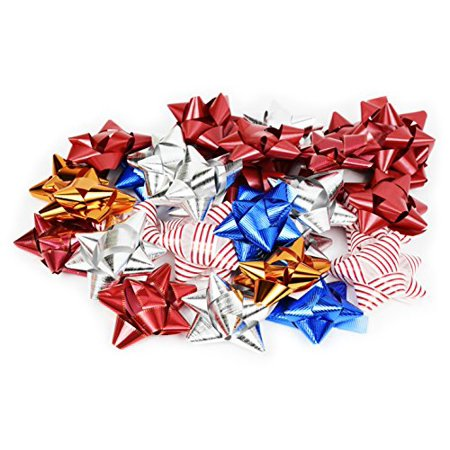 Pack of 36 Self Adhesive Gift Bows in Assorted Colors, Peel N Stick Gift Bows](Ribbon Sticks)