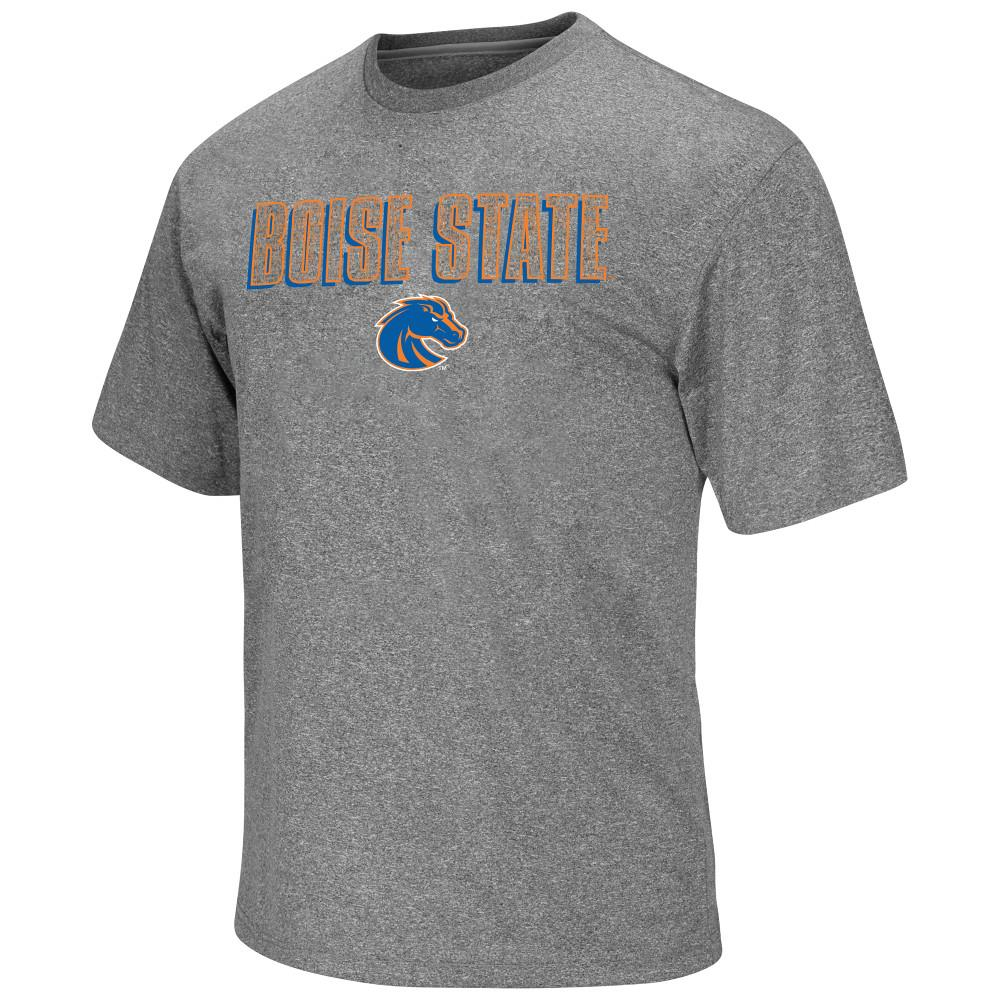 Mens NCAA Boise State Broncos Short Sleeve Tee Shirt (Heather Charcoal)