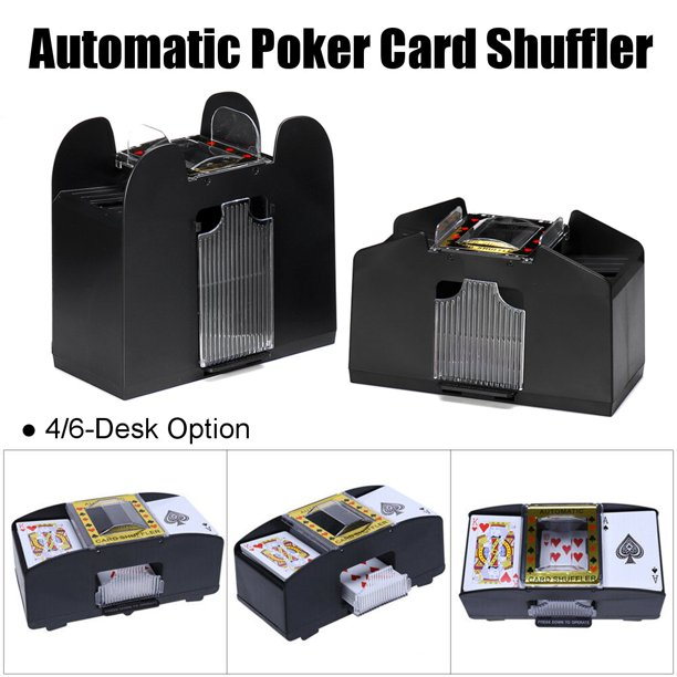 premium automatic card shuffler  battery operated holds