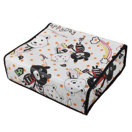 Garment Storage Boxes - Woman Garment Organizer Animal Pattern Underwear Bra Box Storage Case White