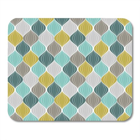 SIDONKU Yellow Modern Abstract Pattern Geometric Vintage Color Green Mustard Antique Mousepad Mouse Pad Mouse Mat 9x10 inch