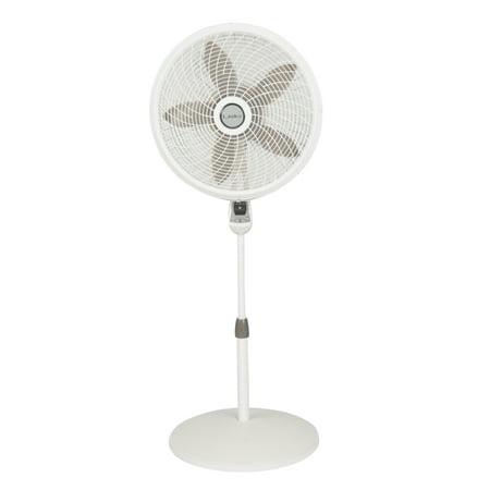 "Lasko 18"" Cyclone Pedestal 3-Speed Fan, Model #1885, White with Remote"