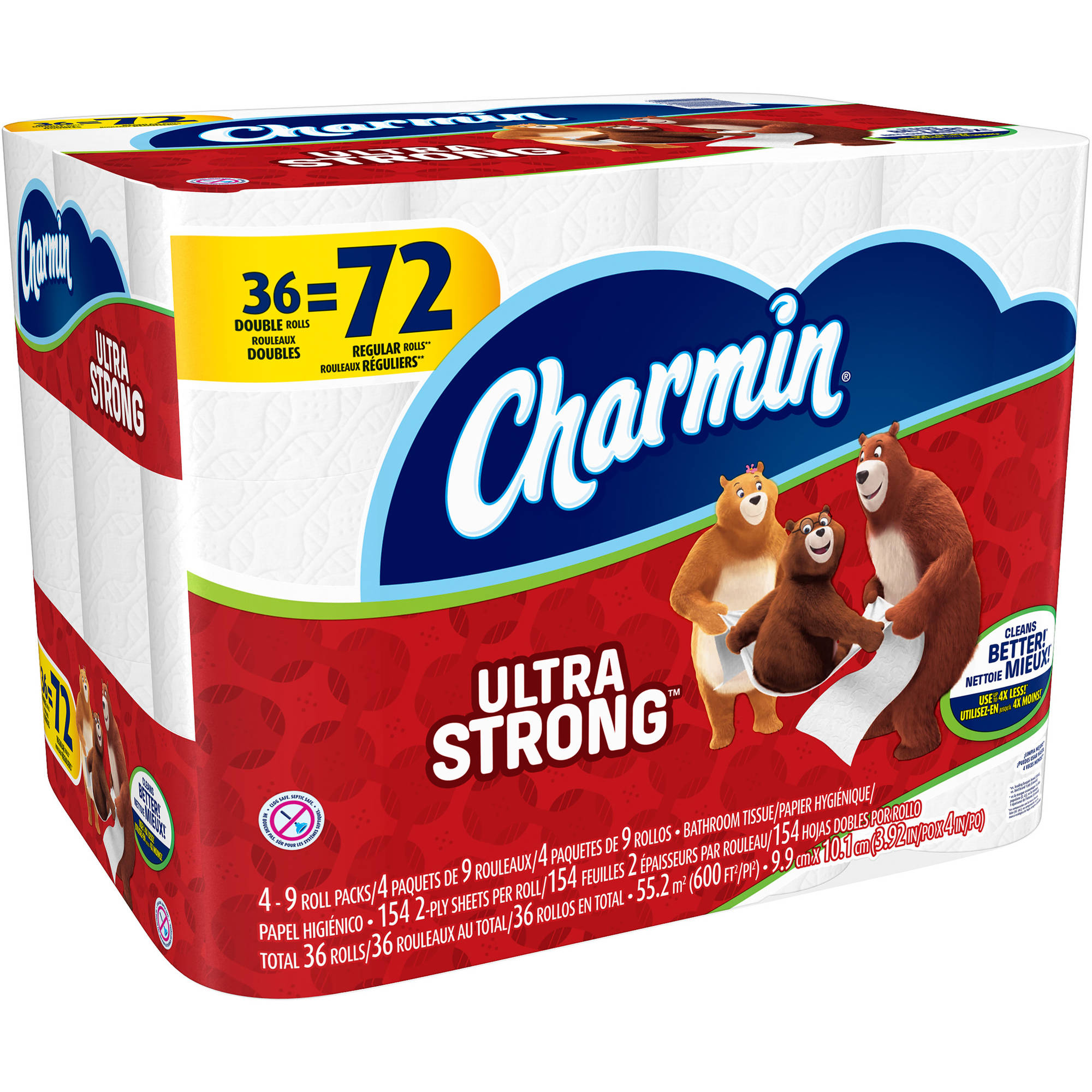 Charmin Ultra Strong Toilet Paper Double Rolls, 154 sheets, 36 rolls