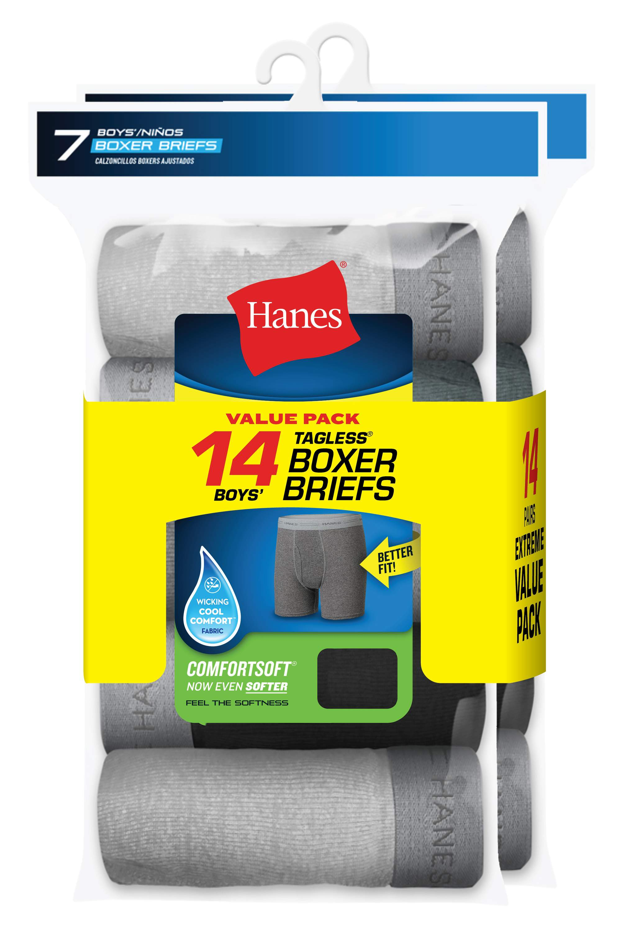 Tagless Boxer Briefs, 7 + 7 Bonus Pack (Little Boys & Big Boys)