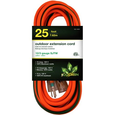 GoGreen Power 14025 12 3 25 Heavy Duty Extension Cord Lighted End