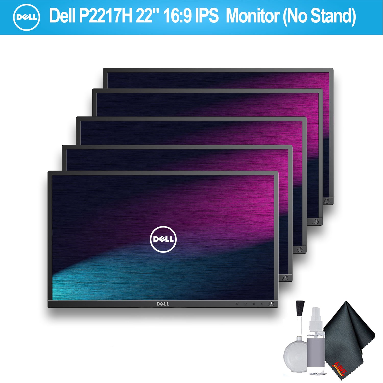 "Dell P2217H 22"" 16:9 IPS Monitor (No Stand) - 5 Pack"