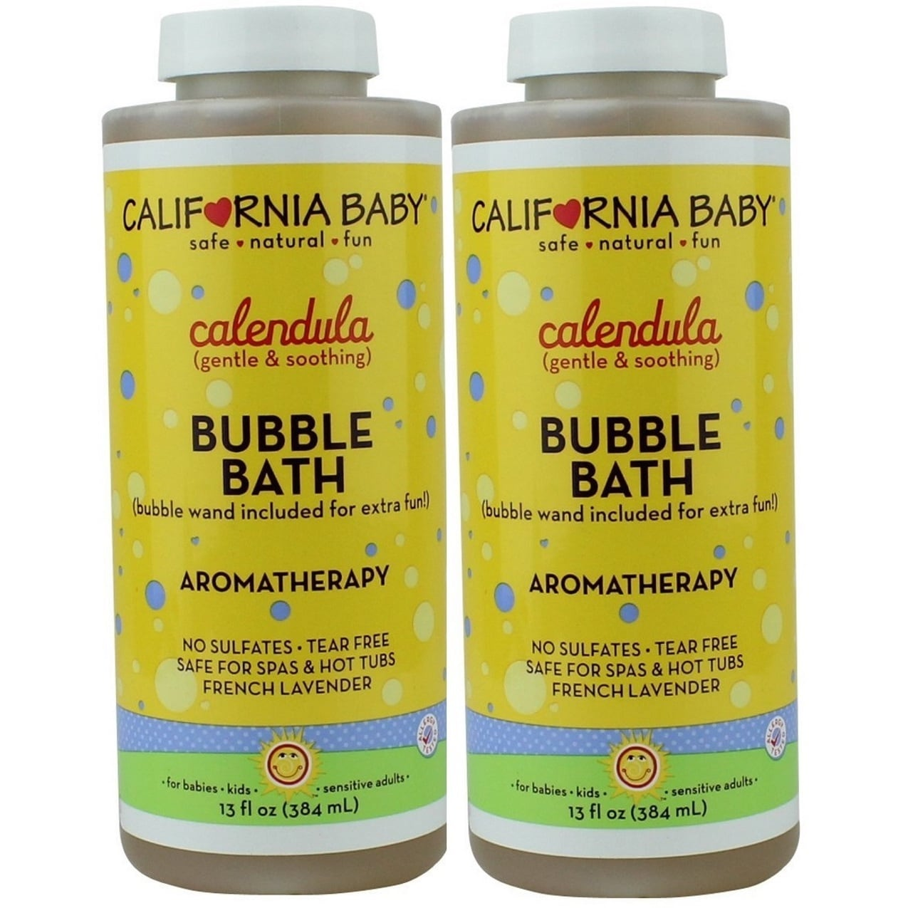California Baby 13-ounce Calendula Bubble Bath (2 Pack) (Yellow), White