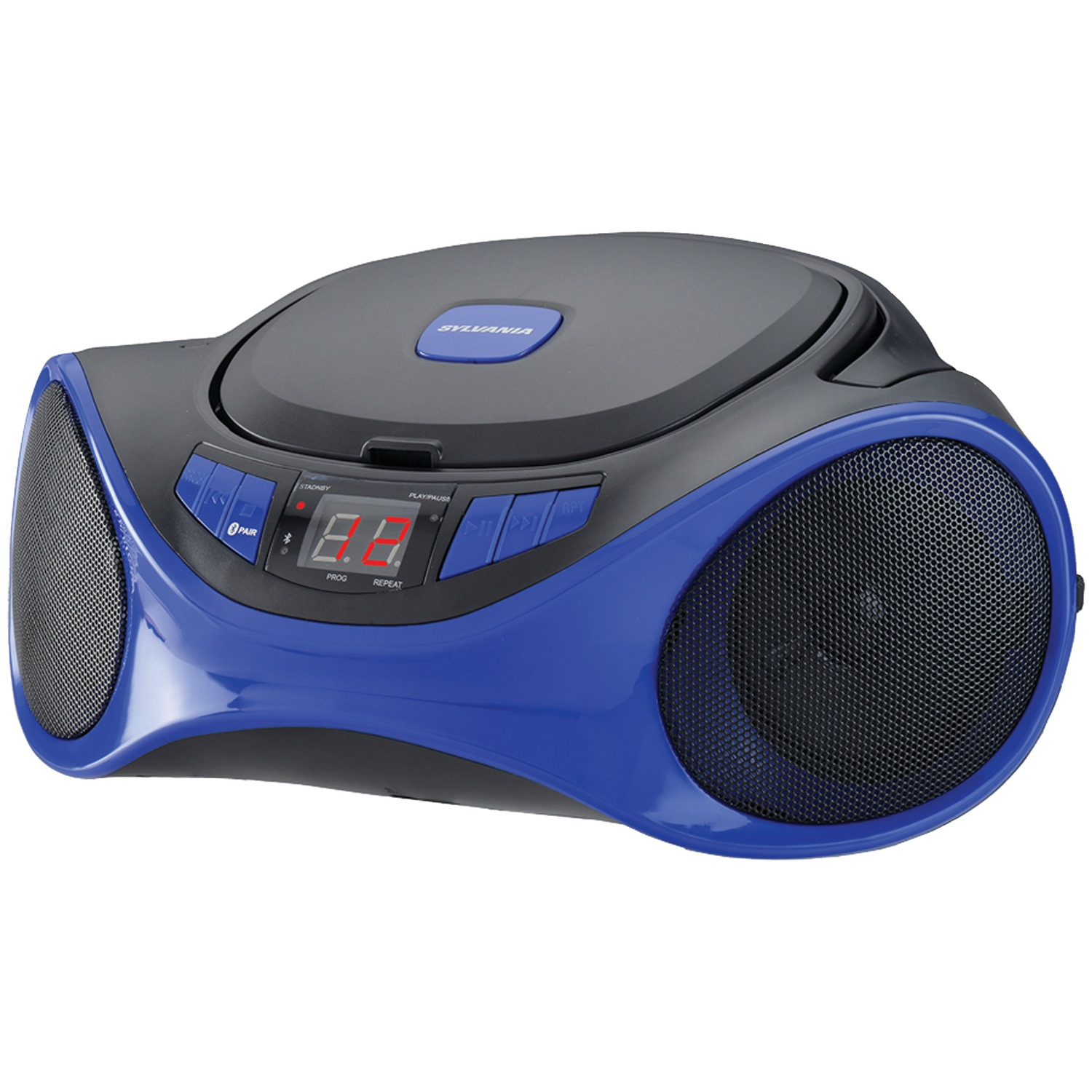 SYLVANIA SRCD1063BT-BLUE Bluetooth Portable CD Radio Boom Box (Blue)