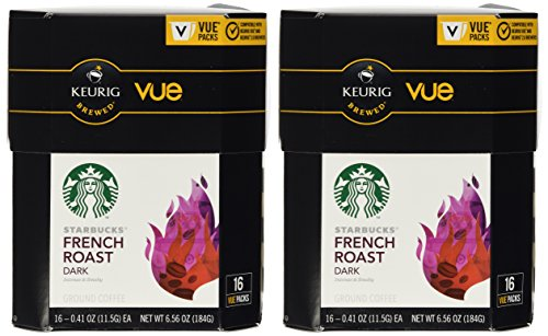 32 Count Starbucks French Roast Coffee Vue Cup For Keurig Vue Brewers by Starbucks Corporation