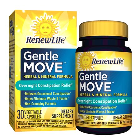 Renew Life Gentle Move Overnight Constipation Relief, 30 capsules ()