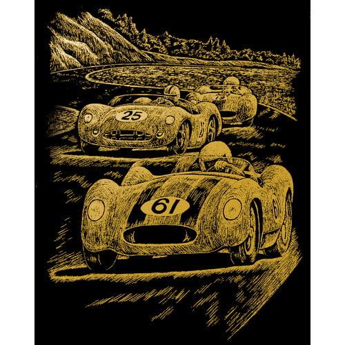Royal & Langnickel Nostalgic Race Cars Art Engraving (Set of 2)