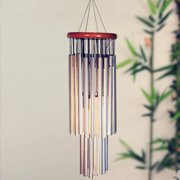 27 Tubes Metal Silver Tube Wind Chime Chape Church Bells Garden Outdoor Hanging Decor Gift