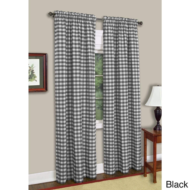 Buffalo Check Window Curtain Panel Walmart