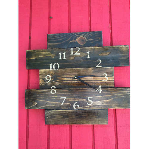 essex hand crafted wood products Rustic Style Orsett Wood Wall Hanging Clock