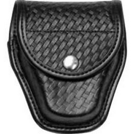 BIANCHI Model 20C Double Magazine Pouch Buckle / Snap Finish: Chrome Finish: Basket Weave Gun Fit: Beretta