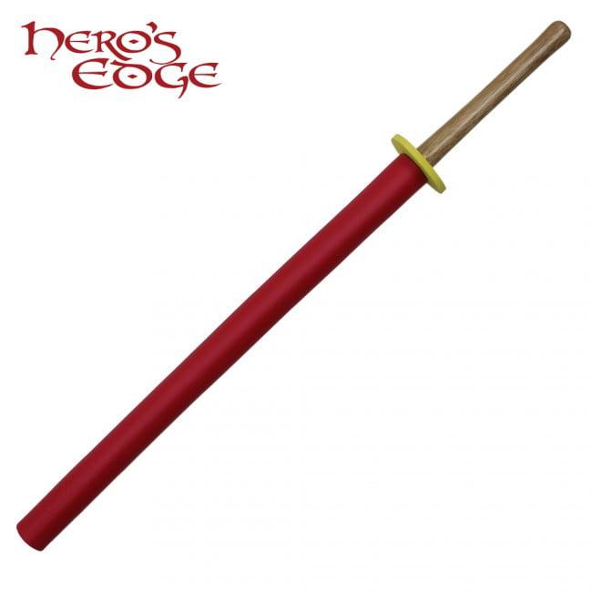 36 Inch Hard Wood Bokken - Red Foam