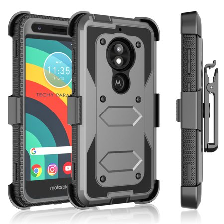 Tekcoo Moto E5 Plus / E5 Spura / E5 Play / E5 GO / E5 Cruise / G7 Power / G7 Optimo Maxx / G7 Spura / G6 Play / G6 Forge Case Holster Belt Clip Defender Heavy Kickstand Carrying Tank Armor