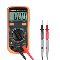 RuoShui 1999 Counts Mini Digital Multimeter Multi-functional Multi Meter Handheld Ammeter Voltmeter Measuring DC/AC Voltage DC Current Resistance Diode Tester Continuity Test LCD Display Square Outpu