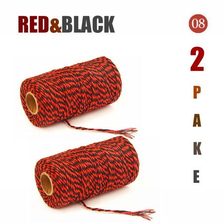 Peroptimist 2mm X 100m Mulit Colored Natural Original Cotton Rope, 2-strand Twisted Cord, Soft and Durable, DIY Your Wall Hangings, Plant Hangers, Bags, Tapestries, Dream Catchers, Mats, Knittings K