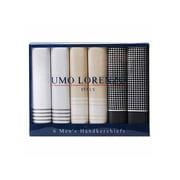 Men's Boxed 6 Piece Cotton Handkerchiefs Set