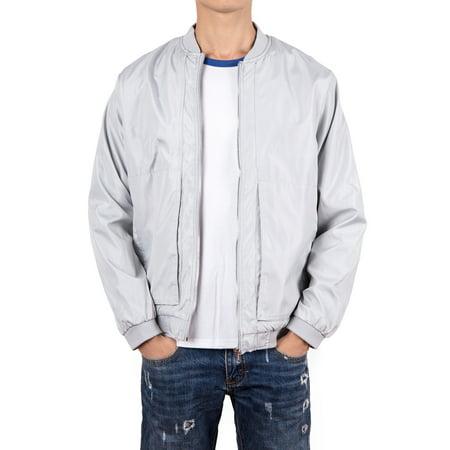 Men's Outdoor Light Weight Windbreaker Jacket Waterproof Rain Jacket Zip-Up Sport Windbreaker Coat M-4XL Black/Gray (09 Woven Jacket)
