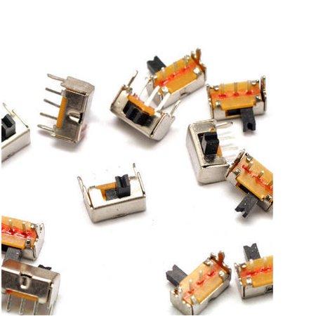 10x Side Slide Switch Mini Small Tiny 4mm ON/OFF Switches 3-Pin Low DC Voltage (Low Voltage Mini Housing)