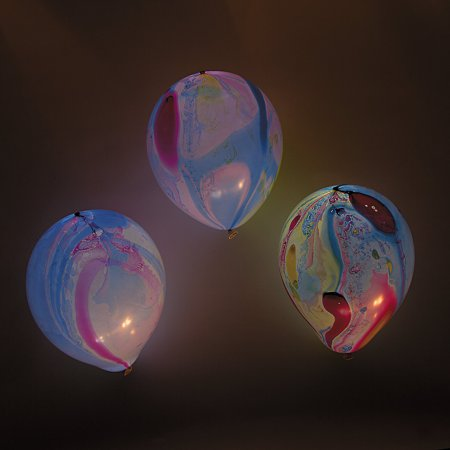 Fun Express - Marble Light Up Balloons(5pcs) for Party - Party Decor - Balloons - Latex Balloons - Party - 5 Pieces](Marble Balloons)