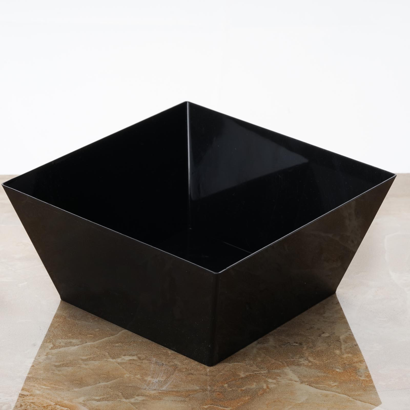 Efavormart 60 Pcs - Black Innovative Square Disposable Plastic Bowl