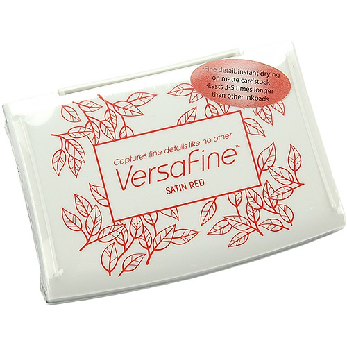 VersaFine VF010 Fast-Drying Pigment Ink Full Size Pad - Satin Red