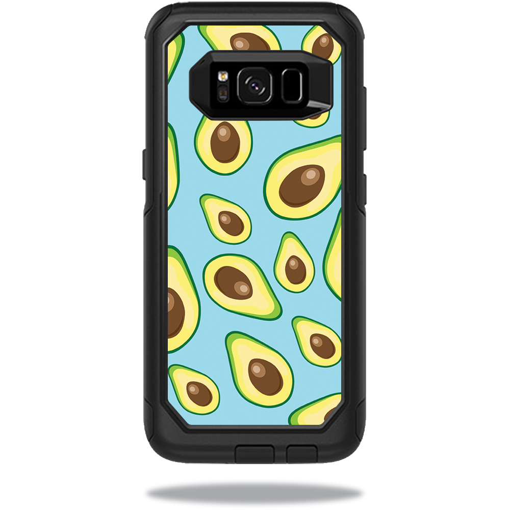MightySkins Protective Vinyl Skin Decal for OtterBox CommuterSamsung Galaxy S8 Case sticker wrap cover sticker skins Blue Avocados