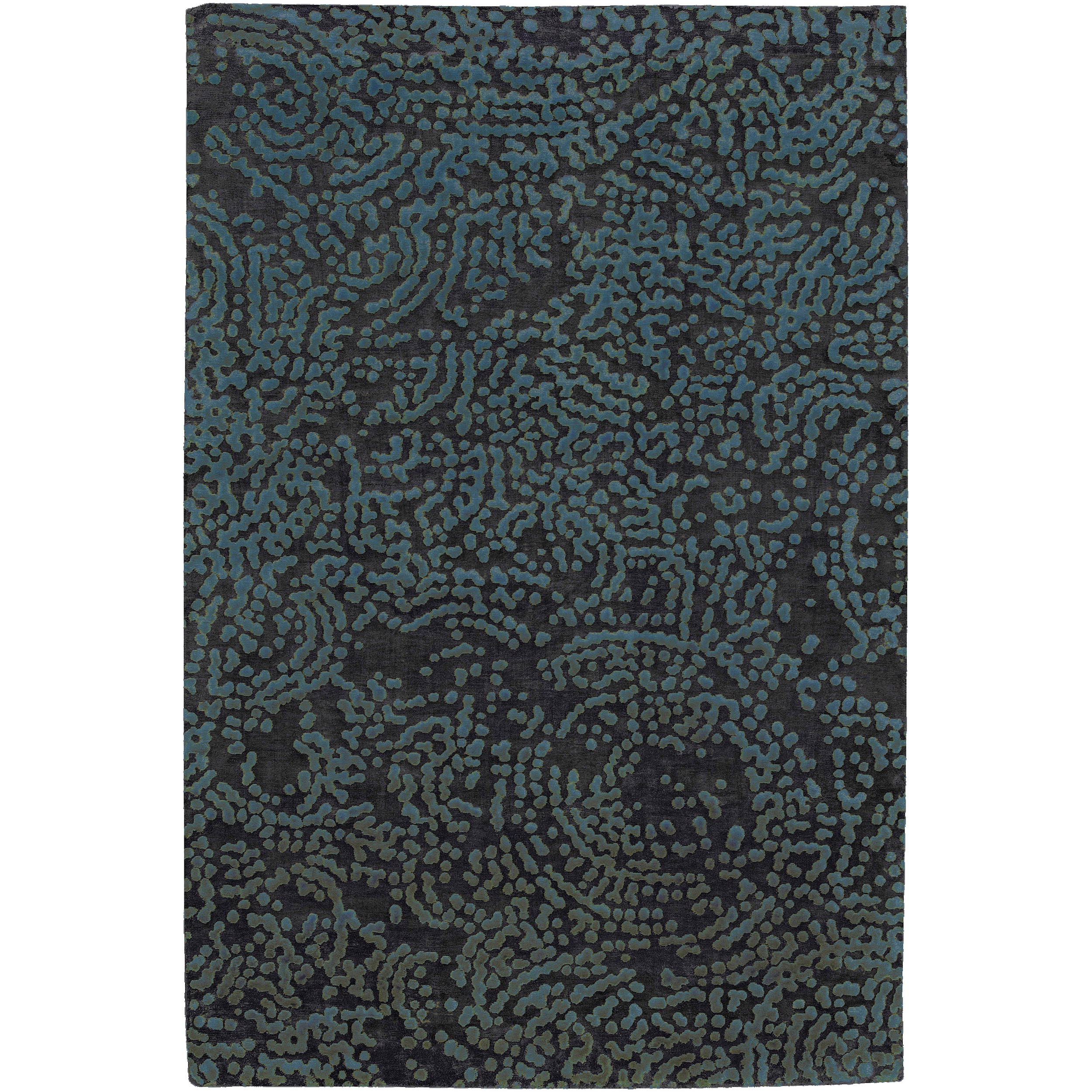 Hand-knotted Kesgrave Abstract Design Wool Rug (8' x 11')