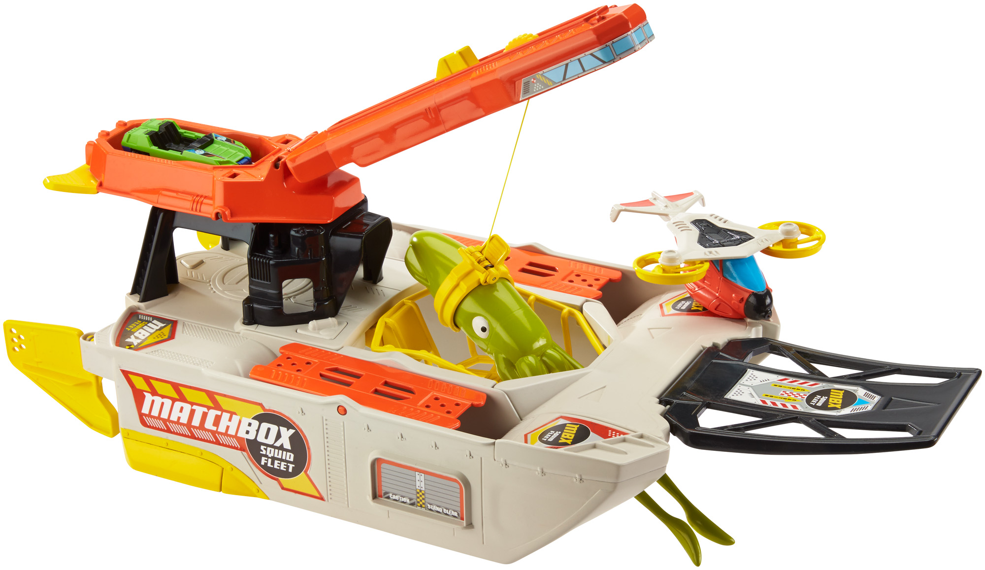 Matchbox Squid Fleet Ship Rescue Action Play with Car by Mattel