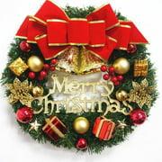 Christmas Wreath Christmas Tree Round Bell Decor Handcrafted Elegant Holiday Wreath Wall Xmas Decoration