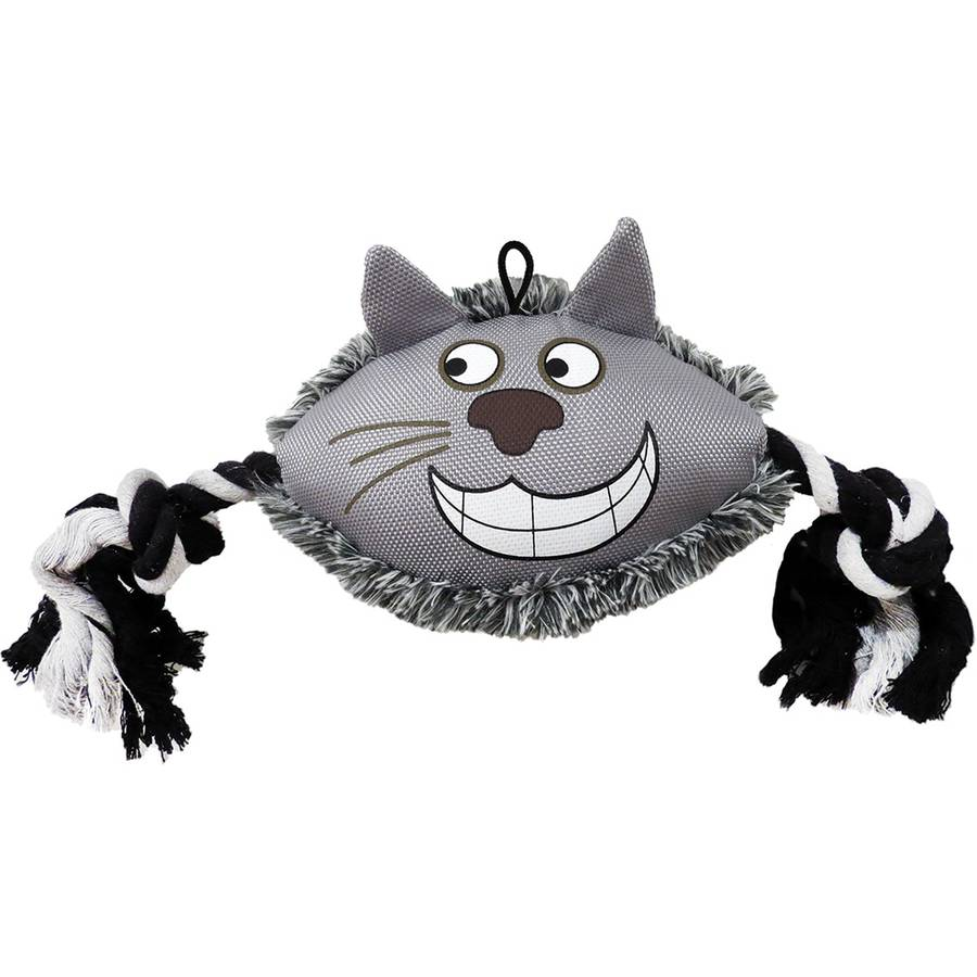 Plush Cathy Cat Dog Toy, 6.5""