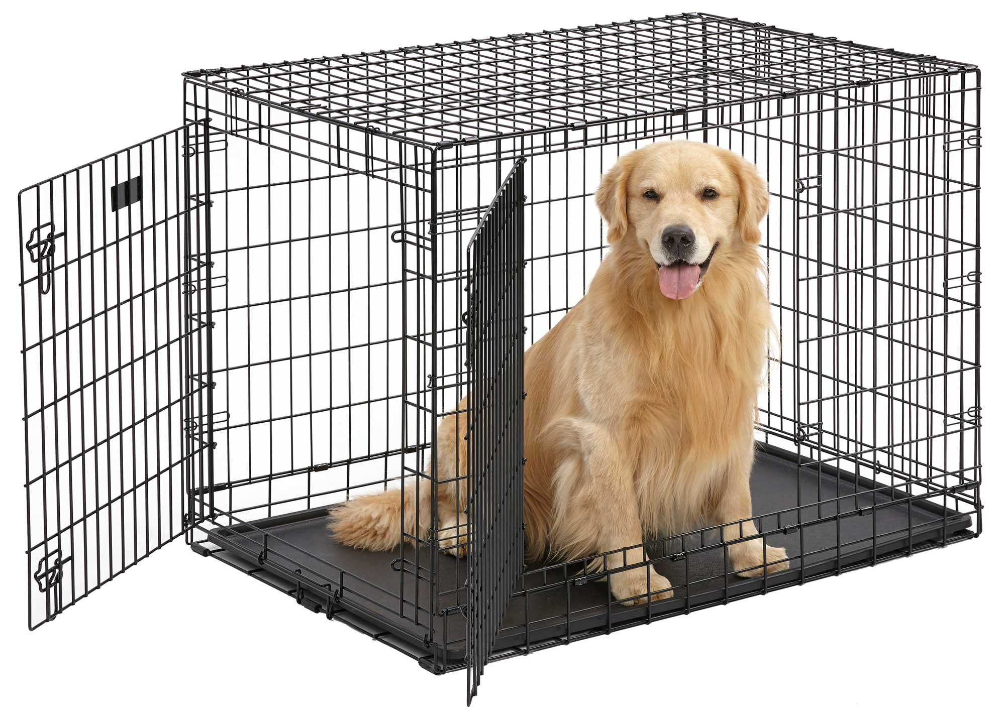 Midwest's Ultima Pro Extra-Strong Double Door Folding Metal Dog Crate by Midwest