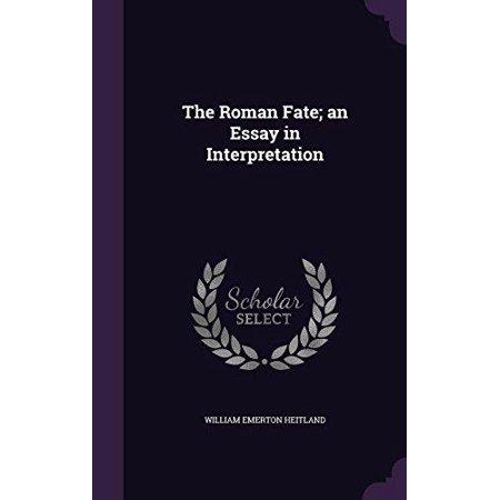The Roman Fate; An Essay in Interpretation - image 1 of 1