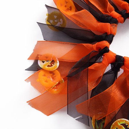 Mosunx Halloween Pet Dog Collars Dress Up Decorative Pumpkin Festival Costume Orange