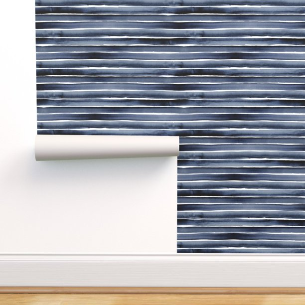Peel And Stick Removable Wallpaper Stripe Watercolor