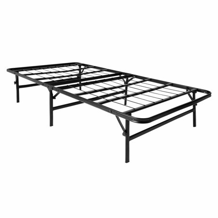 lucid foldable metal platform bed frame and mattress foundation walmart com