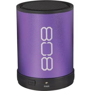 Canz Wireless Bluetooth Speaker 808 Canz SP880 Speaker System - Portable - Battery Rechargeable - Wireless Speaker(s) - Purple - Bluetooth - USB - Wireless Audio Stream, Lightweight