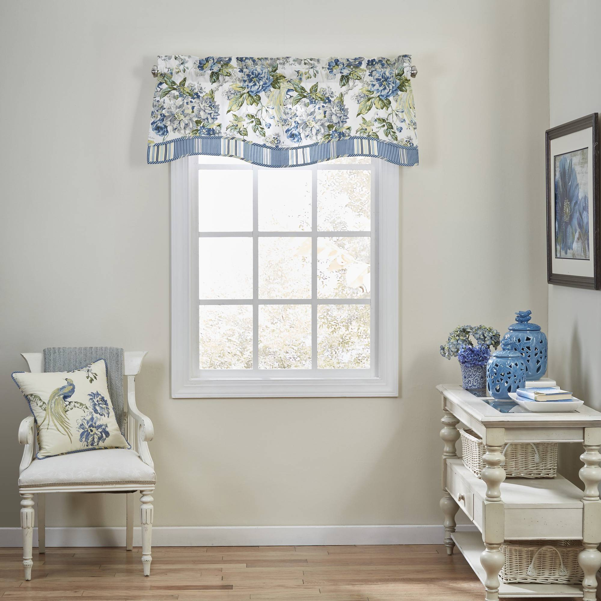 Waverly Floral Engagement Floral Window Valance