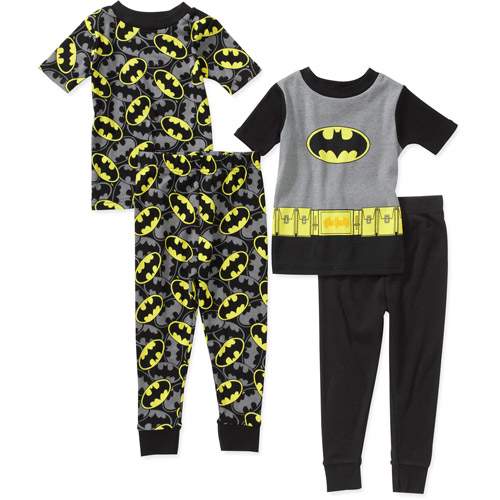 Baby Boys' Batman 4 Piece Cotton Pj Set